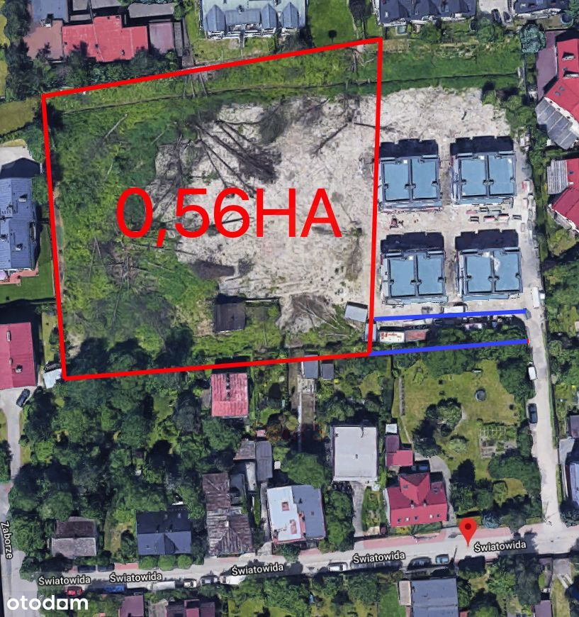 Działka budowlana/mieszkaniowa Podgórze 0,56ha