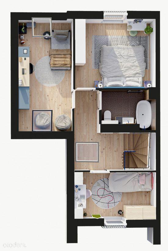 Dwupoziomowe mieszkanie z balkonami i loggią