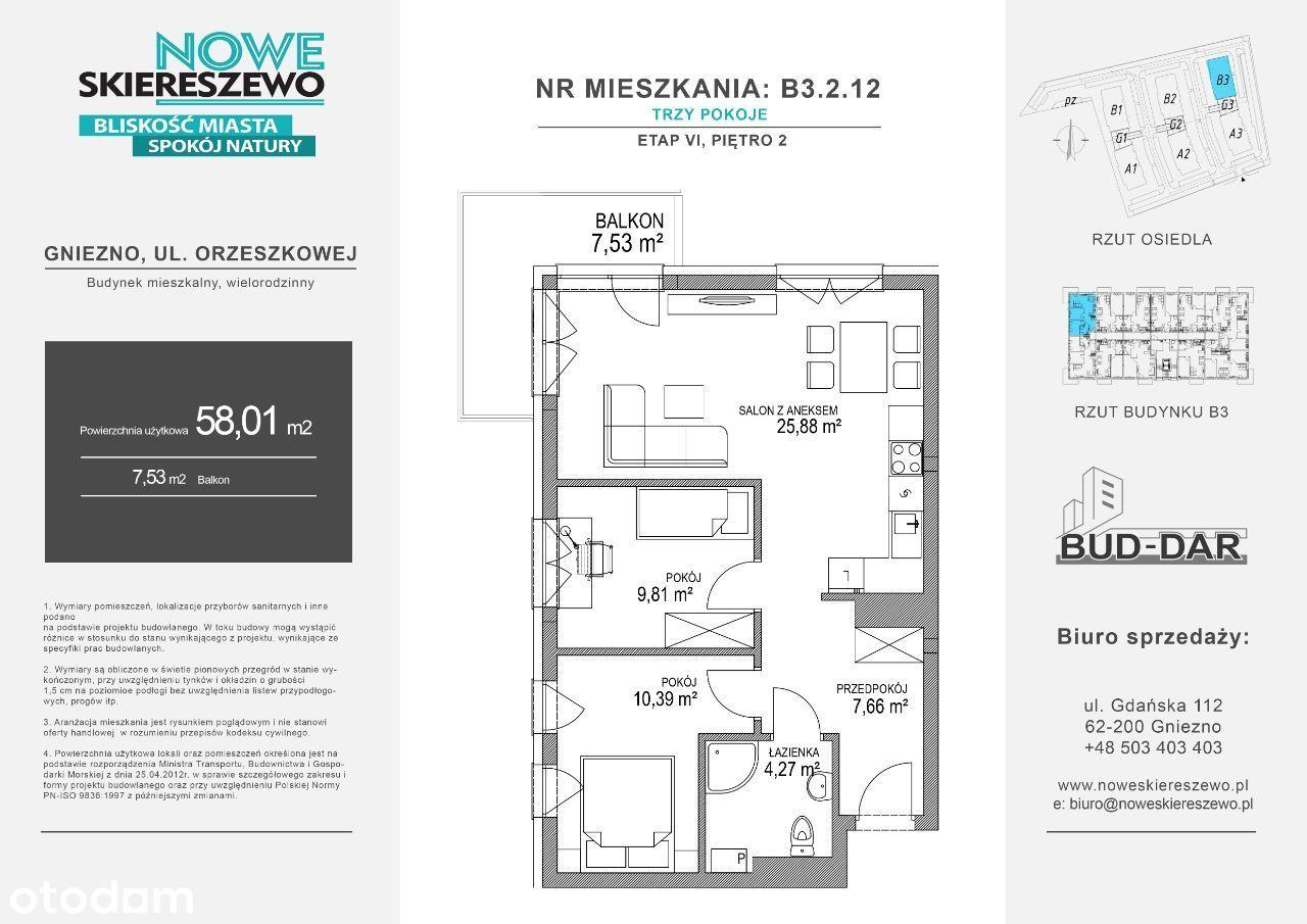 3-pokojowe mieszkanie 2 piętro