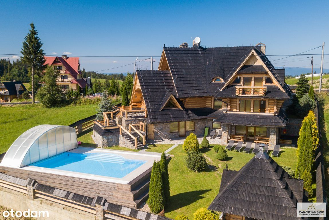 Villa z basenem - Stasikówka - Pełna panorama Tatr