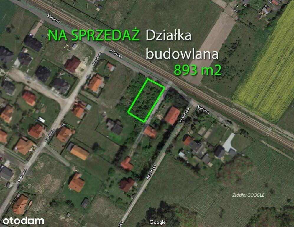 Dziak budowlana 893 m2 Robakowo k. Kórnika