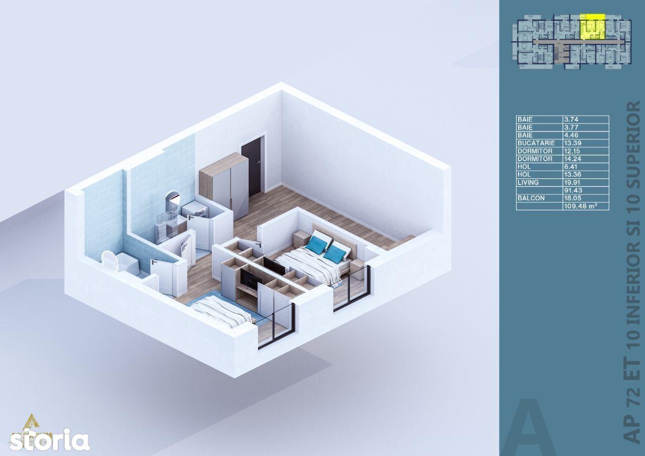 Penthouse Duplex, Decomandat, 3 Camere, Titan, AVANS 5%