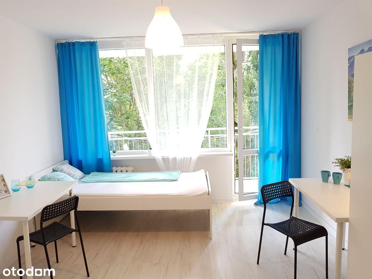 Duży pokój 1 os. z balkonem, WSB, Nowy Dwór,
