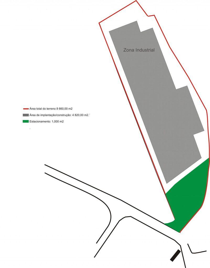 Terreno industrial com área 8.660 m2 em Rendufe - Amares