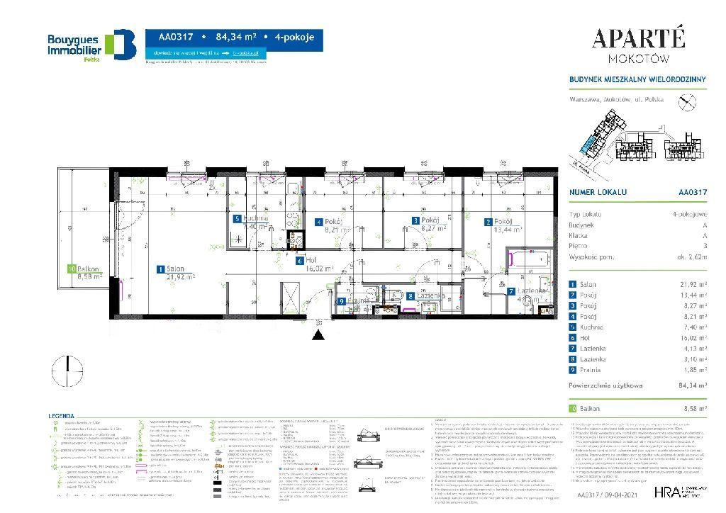 Aż 84,34 m2 mieszkania 4 pokojowego na nowoczesnym