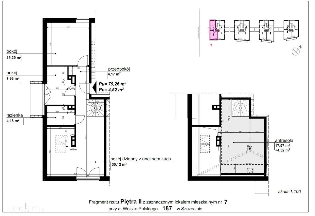 Mieszkanie 187/7 pow. 79,26 m2
