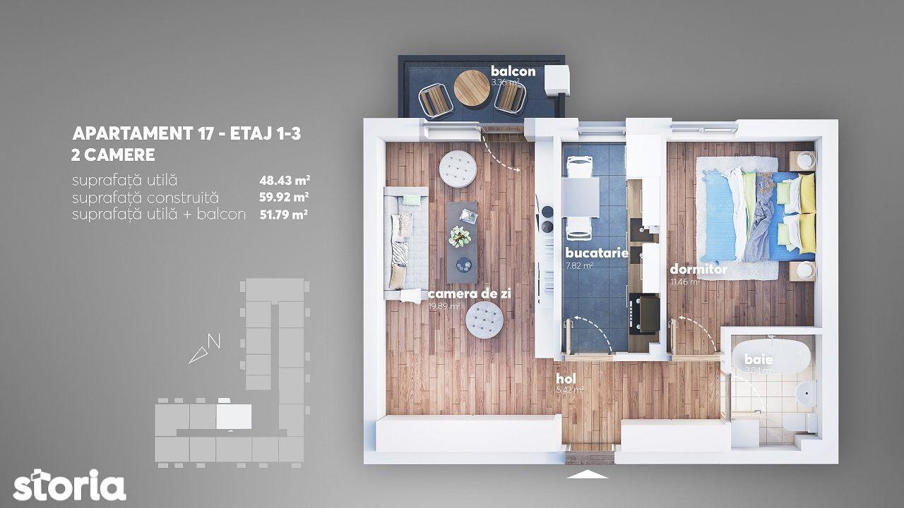 Aparatorii Patriei-Apartament 2 camere decomandat-Complex Nou