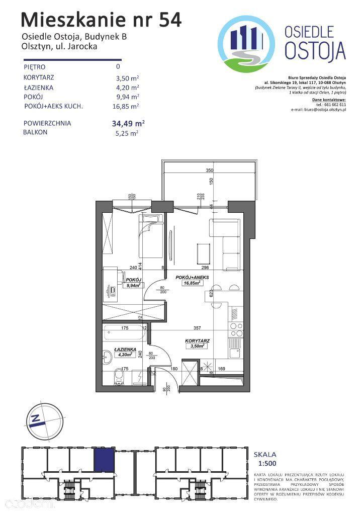 B54 nowe mieszkanie Olsztyn obok Galeria Warmińska