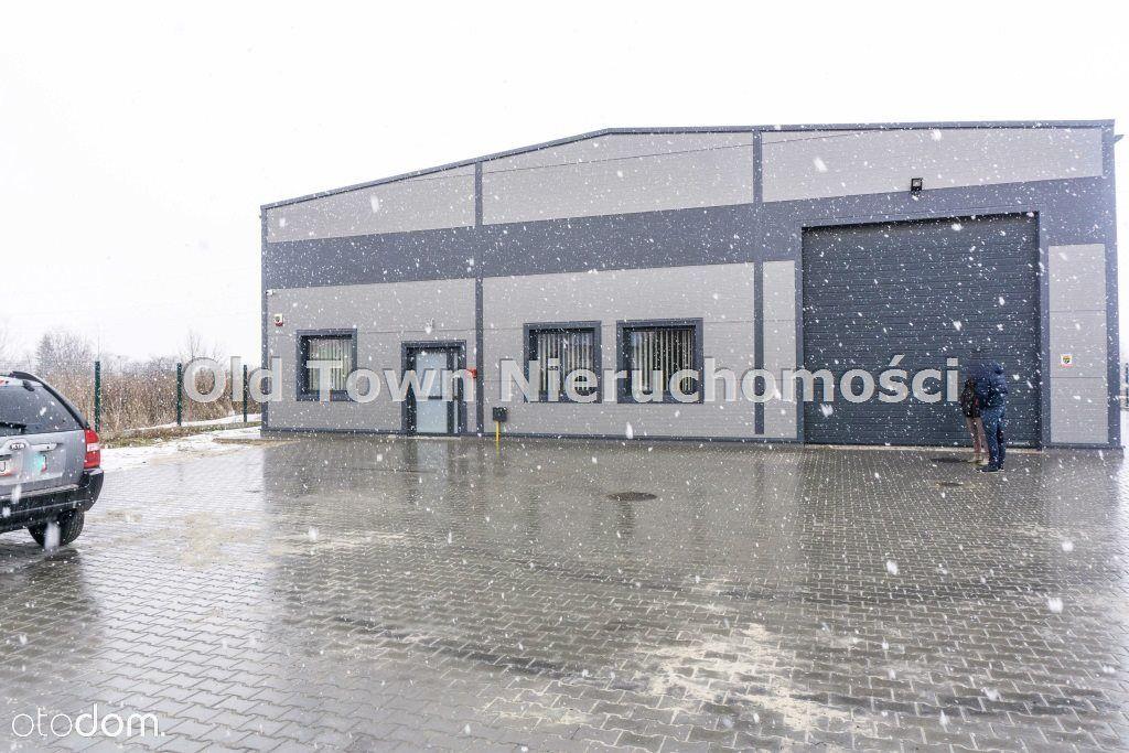 Nowy magazyn 500 m2 z najemcą - działka 30 ar