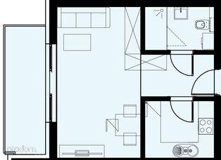 Nowe mieszkanie 32,99 mkw 2 pokoje