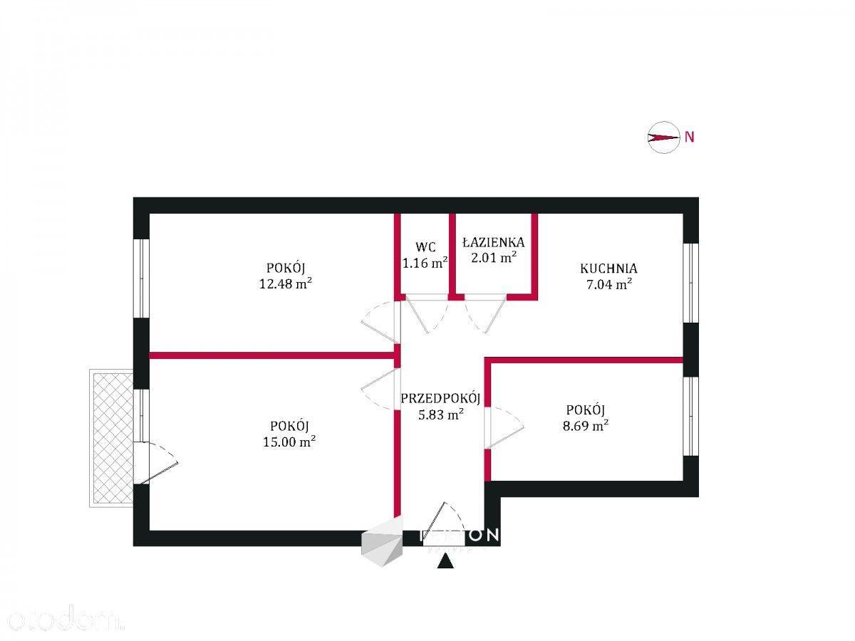 3 Pokoje do remontu - świetna lokalizacja