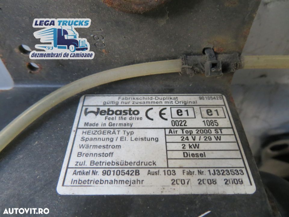 Sirocou sirocol cu suport Mercedes Actros / 9010542B A9438300961 / MED233 - 3