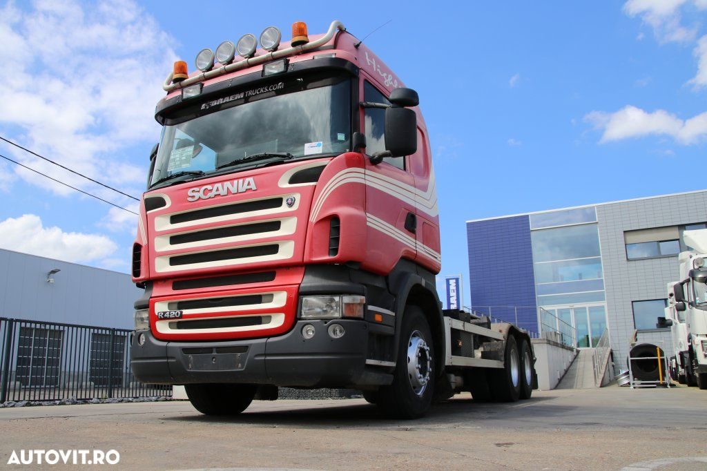 Scania R420 + 10 Tires + Hooklift - 1