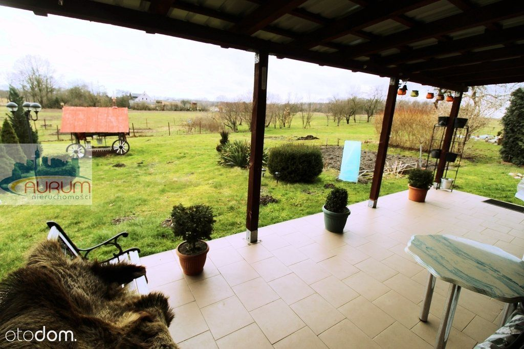 Parter domu taras+ ogród + pole , okolice Żar
