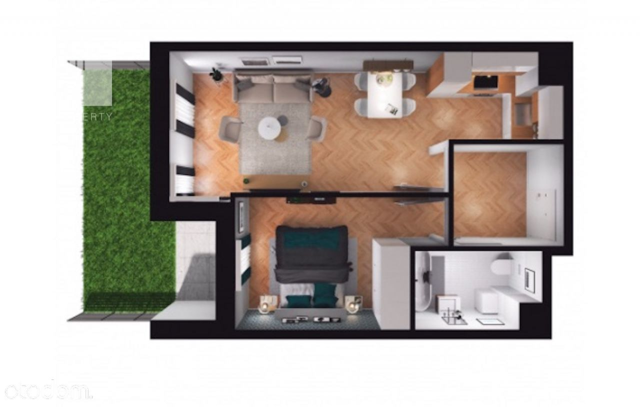 Mieszkanie na sprzedaż, 2 pokoje z ogródkiem