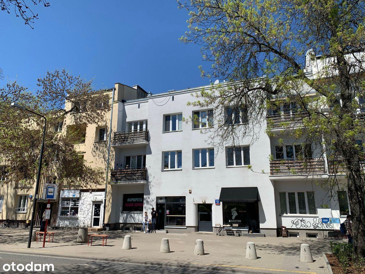 Lokal usługowy i mieszkanie, Warszawa, Saska Kępa