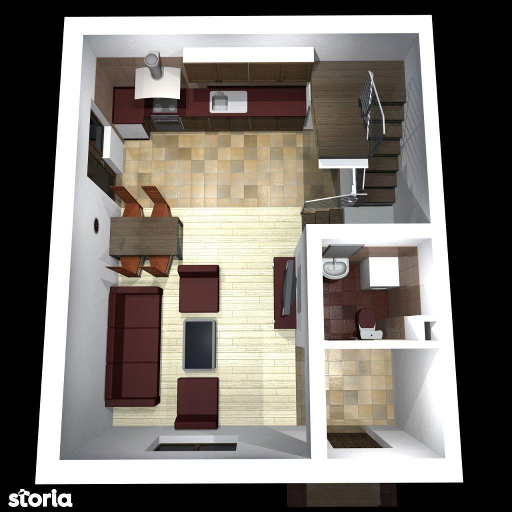 Casa duplex 3 camere Trivale | Fundatura Campului