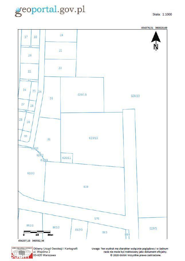 Przetarg na sprzedaż działki Uszyce 0,4082 ha