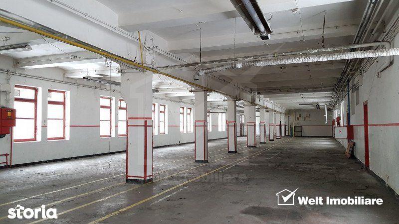 Spatiu productie sau depozitare 500mp la etaj, lift marfa, incinta Clu