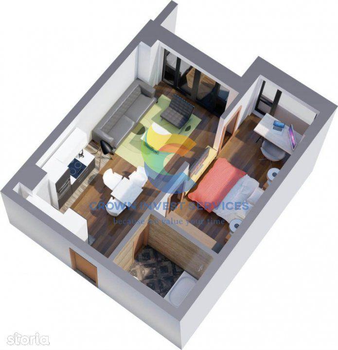 Apartament 1 camera, Tatarasi, zona de agrement Ciric, 37mp  ,etaj 6