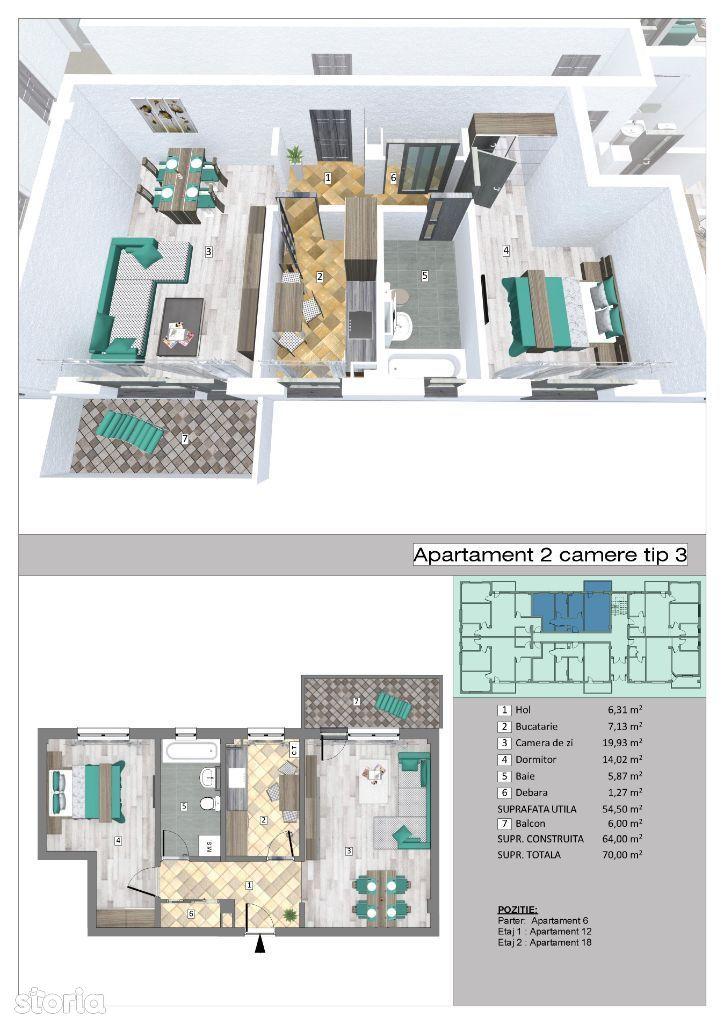Apartamente 2 camere in complex Trivale Park