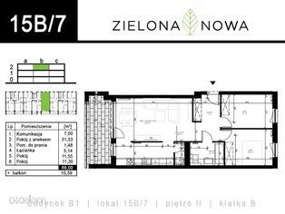 Nowe mieszkanie [15B/7] - osiedle ZIELONA NOWA