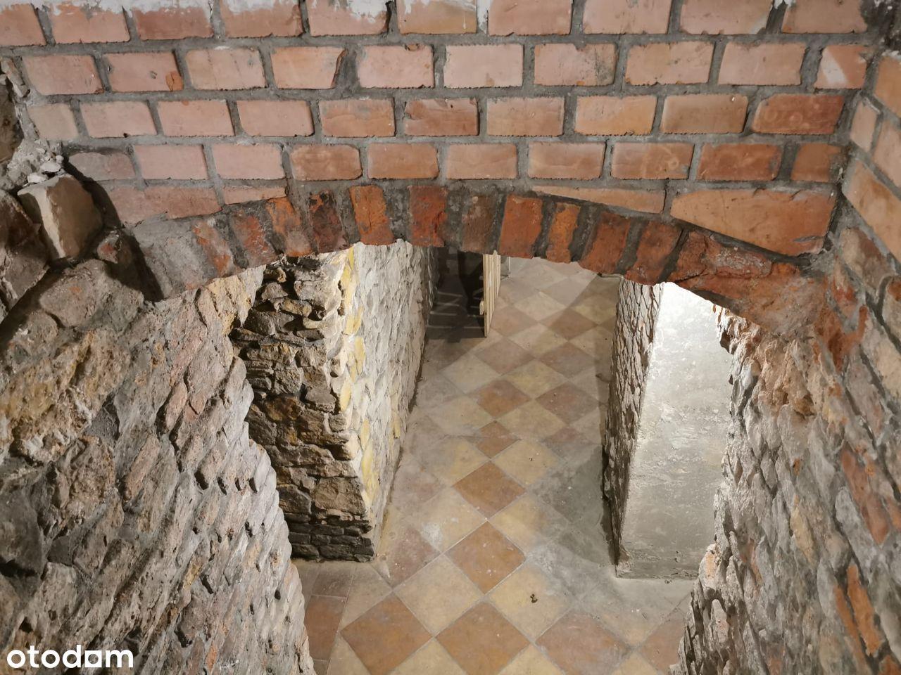 Piwnice pod całą kamienicą Centrum 170m2