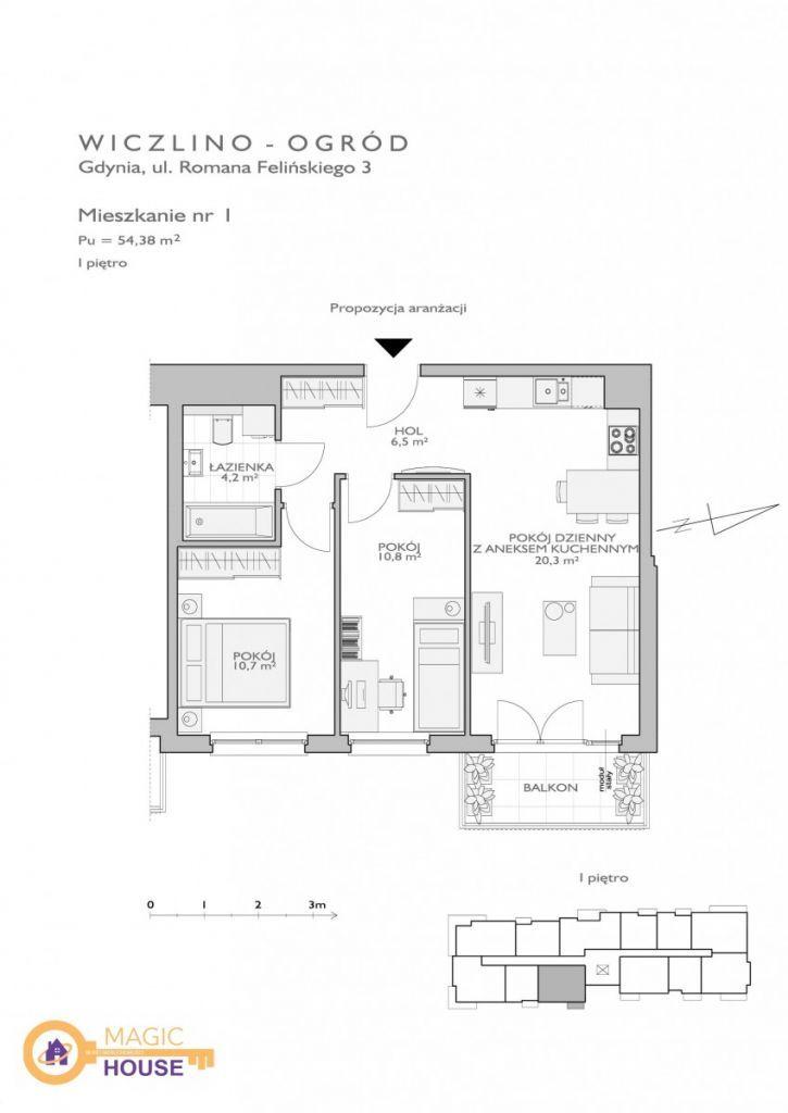 Nowe, jasne mieszkanie Wiczlino Ogród