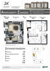 Nieduże 2-pokojowe mieszkanie- 42 m2