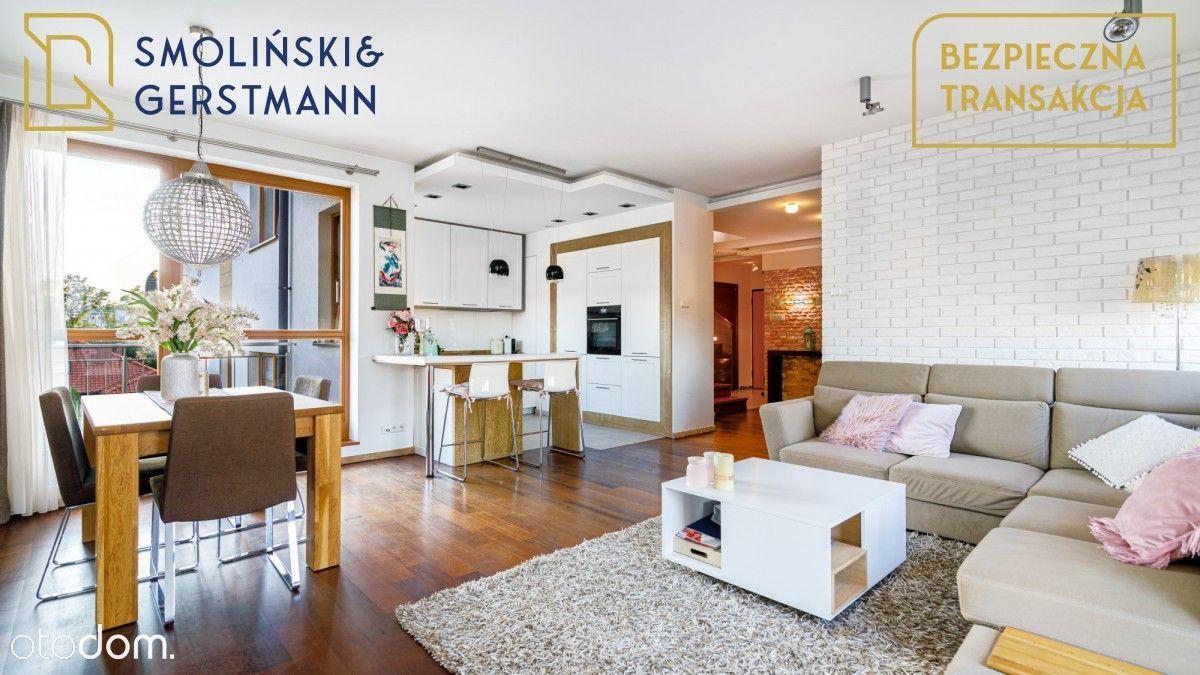 Dwupoziomowe mieszkanie z dużym tarasem i garażem
