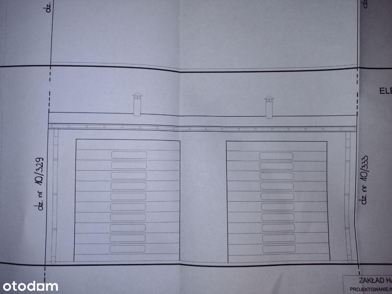 Działka pod budowę hali garażowej + pozwolenie