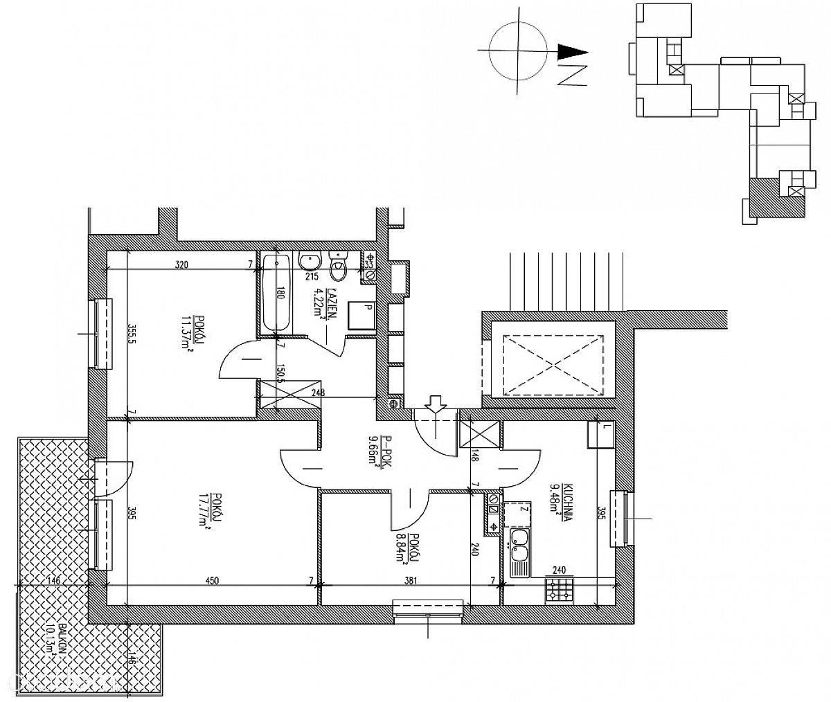 Mieszkanie Węglinek -stan deweloperski 61,34mkw