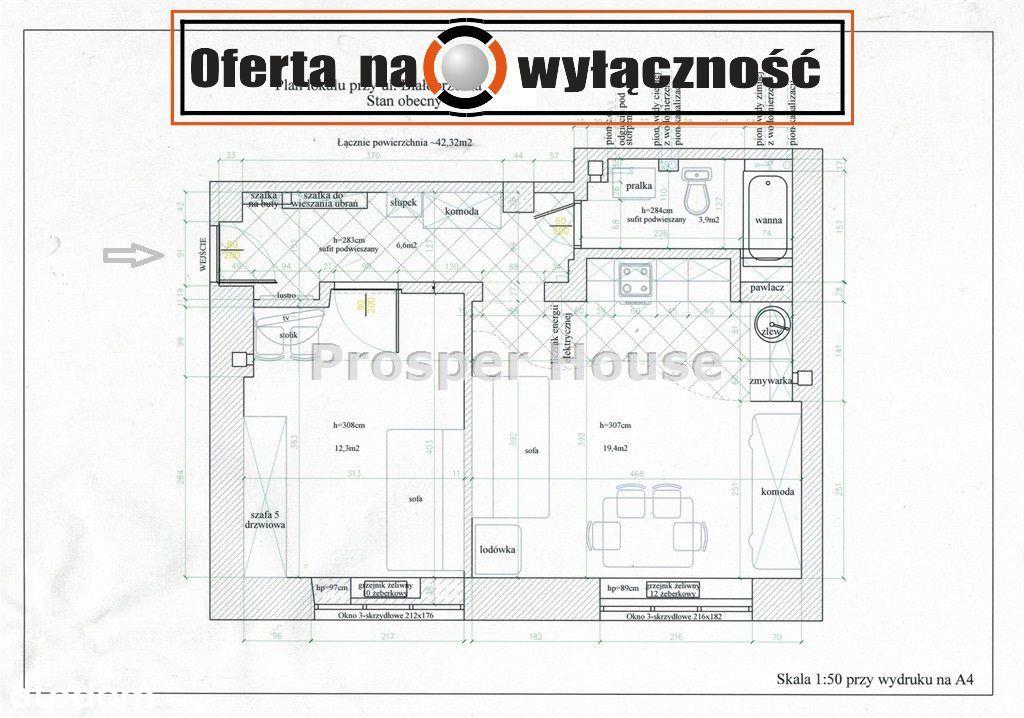 Mieszkanie, 42,30 m², Warszawa
