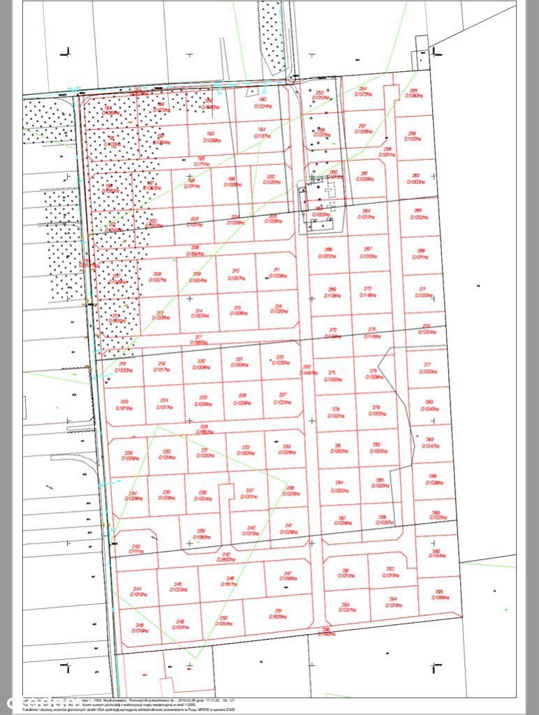 Działka dla dewelopera - pod budowę 21 bliżniaków