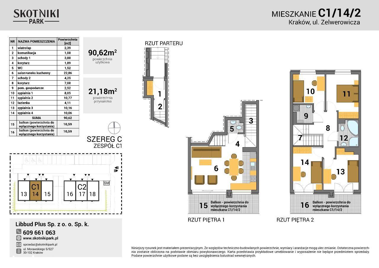Skotniki Park   90 m2   taras 26 m2   Etap II