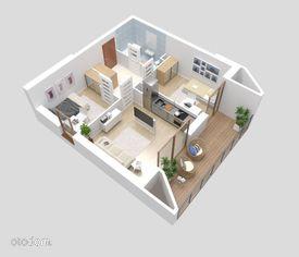 Mieszkanie 3-pokojowe 49mkw, ostatnie piętro.