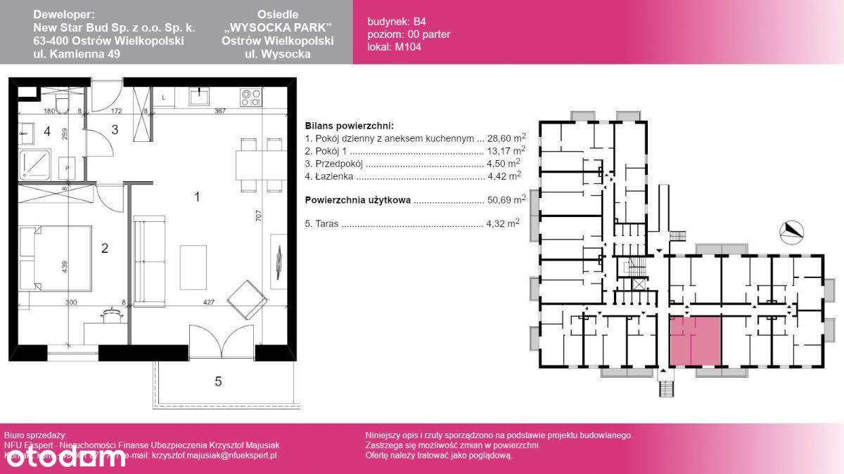 Lokal użytkowy M104, 50,70 m2