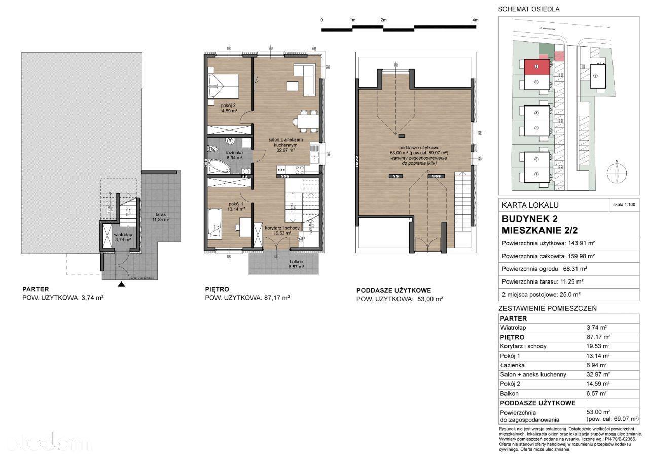 Raszyn, Apartament dwupoziomowy, ogródek 70m2