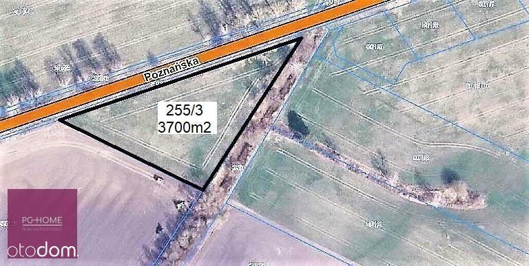 Działka 3 700 m², blisko S11, Grzebienisko