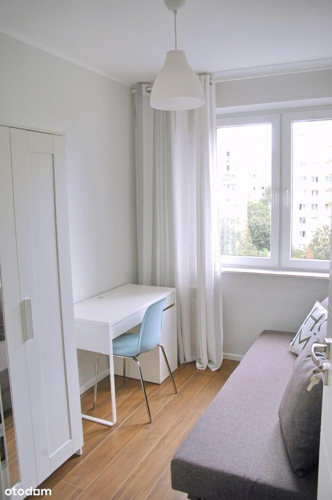 Pokój 1-osob. w mieszkaniu 5 pokoi bez właścicieli