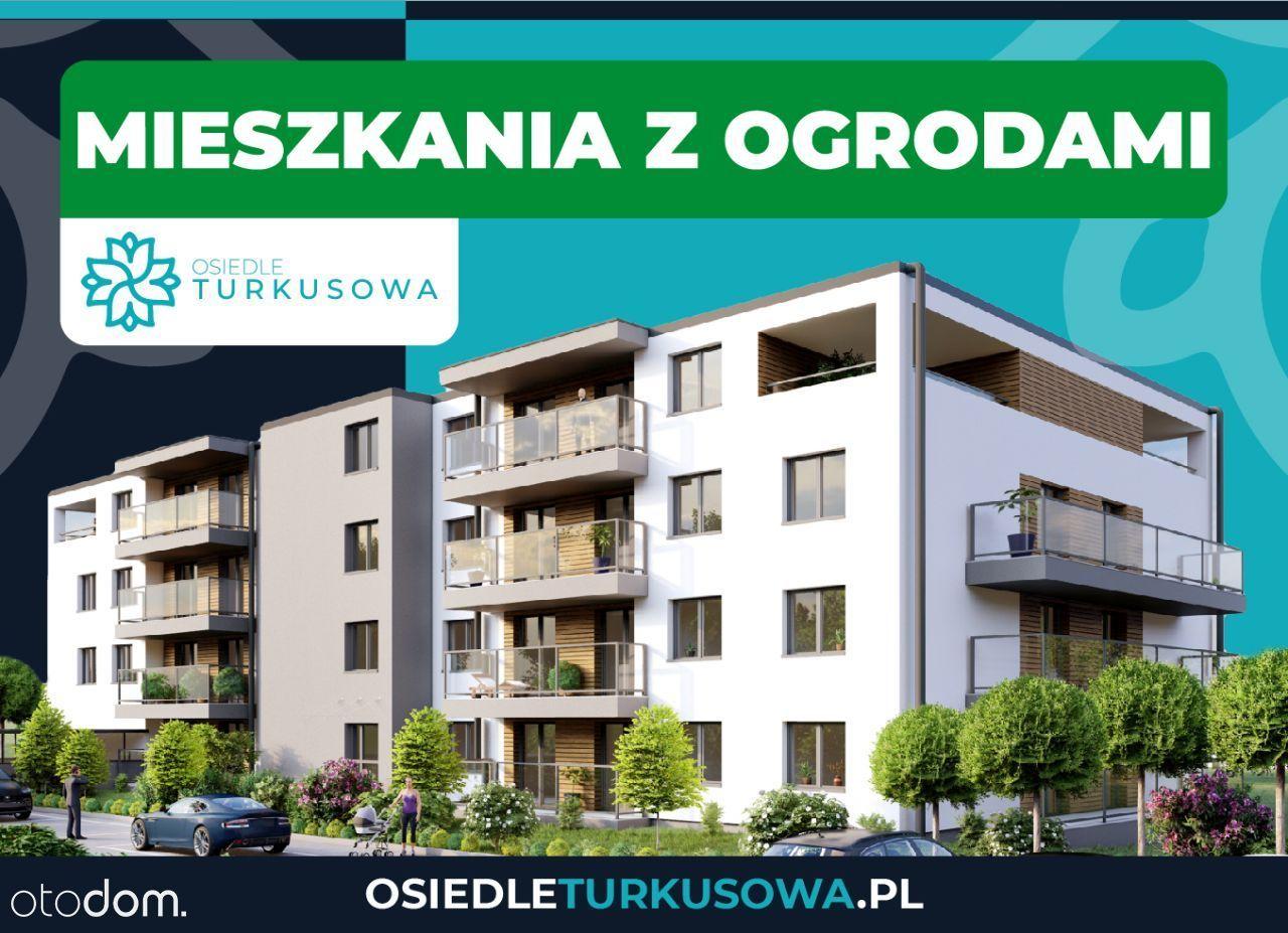 Małe mieszkania z ogrodami || Turkusowa || S19, A4