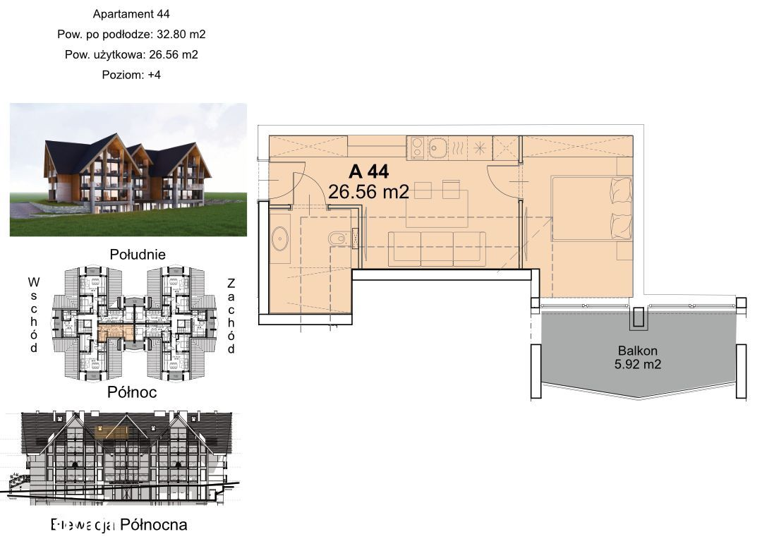 Zainwestuj w apartament Góralski Resort A-44 26,4