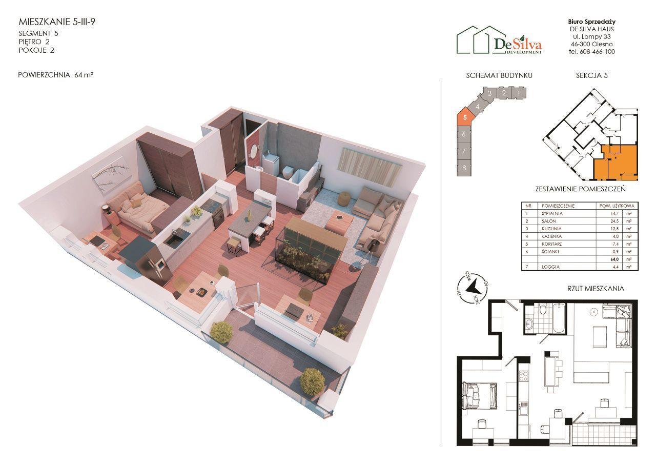 Mieszkanie 2-pokojowe Blok z garażem podziemny 539