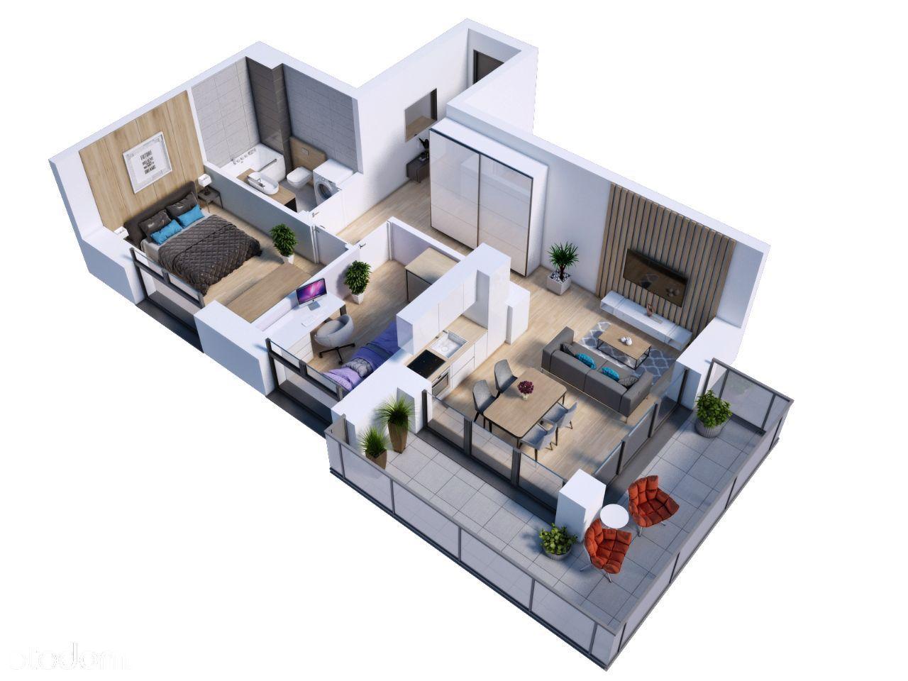 3 pokoje z balkonem, idealne dla rodziny