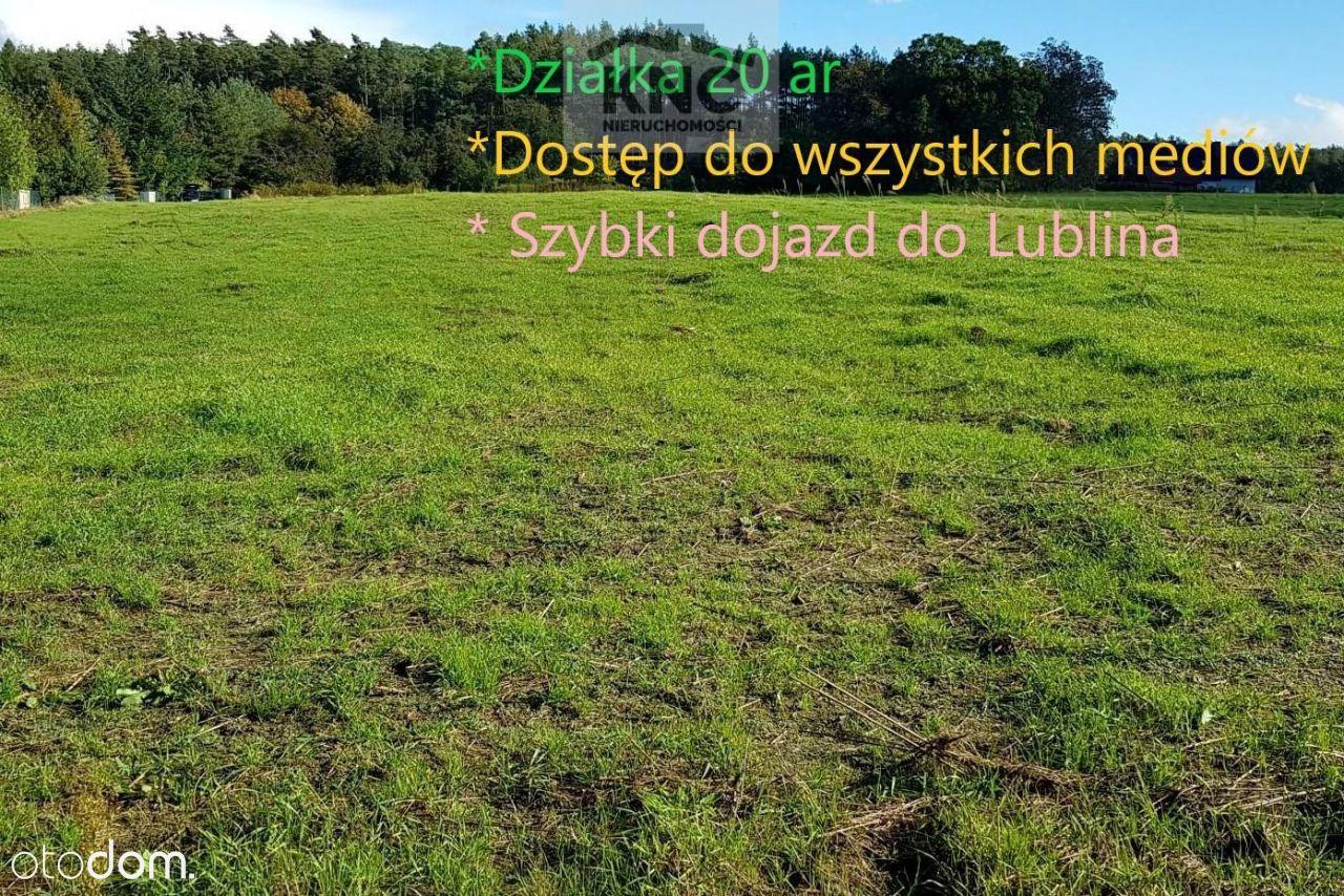 Działka budowlana 20 ar, Rudnik pod Lublinem