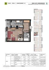 Garsoniera decomandata etaj 1 , bloc nou- Brancoveanu adiacent