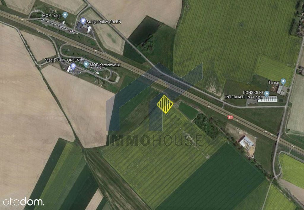 Działka inwestycyjna przy autostradzie A2