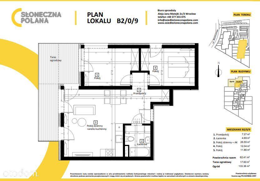 NOWOCZESNY APARTAMENT! 66 m2 + ogród + taras
