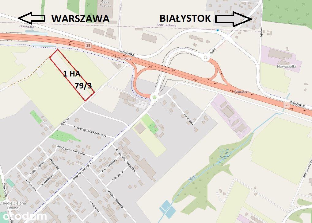 Działka inwestycyjna Choroszcz k/Białegostoku