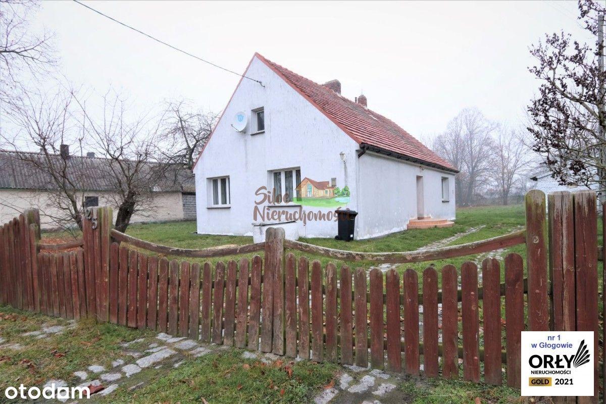 Dom w spokojnej okolicy 15km od Głogowa.